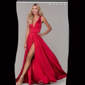 Beautiful red long dress! Silk!
